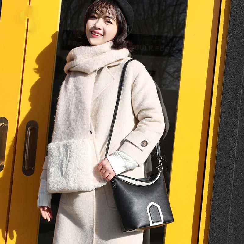 Luxury Brand Tote Bag Contrast Color PU Leather Shoulder Bag Famous Designer Women Handbags Small Square Bags 6