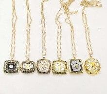 Оптовая 1974/1975/1978/1979/2005/2008 Super Bowl Pittsburgh Steelers Чемпионат кулон ожерелье Набор