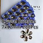sewing rhinestones 7x12mm