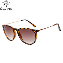 DRESSUUP Brand Metal Thin Legs Vintage Sunglasses Women Round Sun Glasses Woman Oculos De Sol Femininos 2017 Gafas(China)