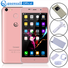 Gooweel M15 4 г смартфон отпечатков пальцев mtk6737 Quad Core 5.0 дюймов IPS Android 6.0 мобильный телефон 2 ГБ 16 ГБ ячейки телефон Бесплатная флип чехол