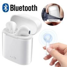 Дропшиппинг i7s TWS Bluetooth наушники стерео вкладыши Беспроводные с зарядным устройством микрофон для xiaomi iphone