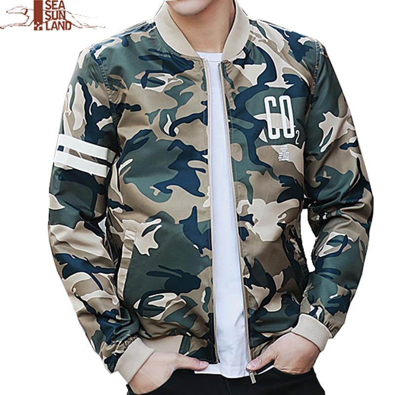 940cb6912abeb SeaSunLand Camouflage Jacket Coat Men Men's Clothes Fashion Bomber Jacket  Man Style Baseball Male Windbreaker Camo Jackets Coats