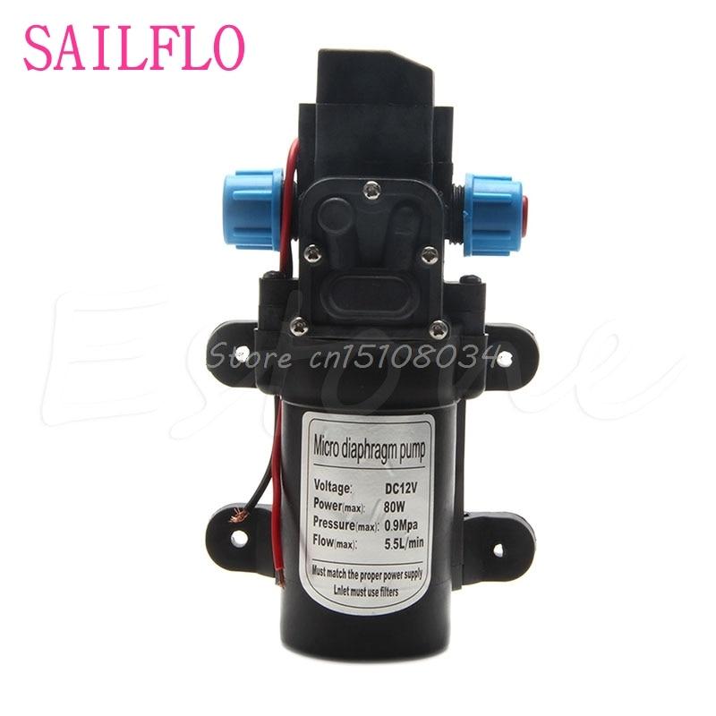 New DC 12V 80W 0142 Motor High Pressure Diaphragm Water Self Priming Pump 6L/Min #S018Y# High Quality