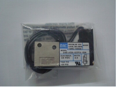все цены на USA MAC genuine original high-speed solenoid valve 34B-ABA-GDFA-1BA DC24V онлайн