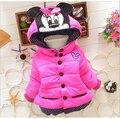 2017 crianças outerwear bebê meninas Jaqueta Crianças Casaco de algodão Com Capuz casacos de Inverno das crianças Meninas roupas de inverno Down & Parkas