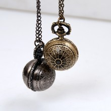 Small Size Unique Style Vintage Pocket Watch Necklace For Xmas Gift pocket watch Steampunk Quartz Watch