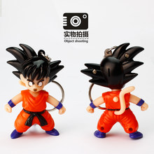 Zoeber Dragon Ball SON GOKU Cartoon Keychain Mini PVC Figure sound light wukong LED Key chain Bag Pendant Car keyring Child Toy(China)