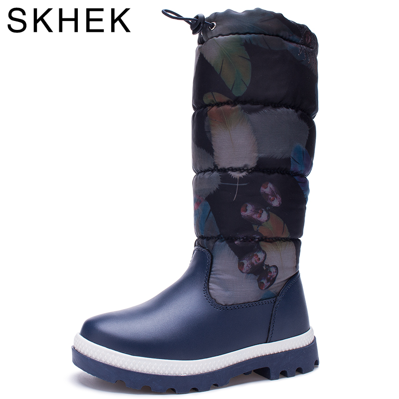 2017 New Winter Children PU Leather Boots Kids Snow Brand Girls Boys Rubber plush Boots Fashion Waterproof Black and blue in two new 2015 botas infantil pu leather boys girls rubber boots for children martin boots kids snow boots sneakers hot item