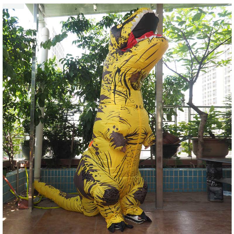 Анимэ косплей для взрослых мужчин T REX Костюм надувной динозавр t-rex талисман костюм Adultos костюм динозавра на Хэллоуин для детей женщин