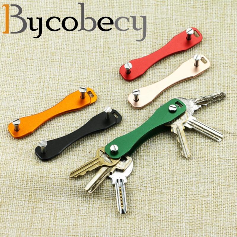 Bycobecy Men Women New 2020 Solid Smart Key Holder Pocket Key Organizer Tool Metallic Car Keychain Fashion Convenient Key Case