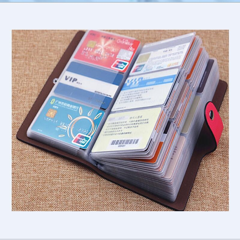 New Business Credit Card Holder For Women Men Bank ID Card Bus Card Holder Big Capacity
