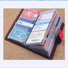 Новый Бизнес Кредитные Карты Держатель Для Женщин Мужчин Банк ID карта Автобус Карты Держатель Большой Емкости Карты Держатель Кошелек Организатор Carteras