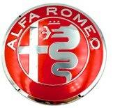 1 шт. 40 мм рулевое колесо эмблемы наклейки, автоаксессуары враг Alfa Romeo Brera 147 156 166 159 GT паук Giulietta Stelvio - Название цвета: Красный