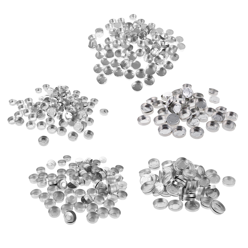 500 Pieces Aluminum Tea Light Tins Tealight Cups Empty