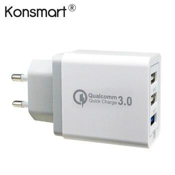 Konsmart 30 w Quick Charge 3.0 USB Fast Charger voor Samsung Galaxy S9 S9 + S8 Plus Note 8 Voor xiaomi Redmi note 5 Voor iPhone X XS
