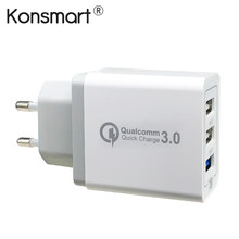 Konsmart 30W Quick Charge 3.0 USB Fast Charger for Samsung Galaxy S9 S9+ S8 Plus Note 8 For Xiaomi Redmi note 5 For iPhone X XS(China)