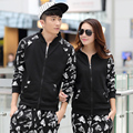 Supreme New Casual Autumn Sweat Men And Women Couples Lovers Suite Horse Head Printing Cardigan Seatershirt Two Pieces Suit Wy25