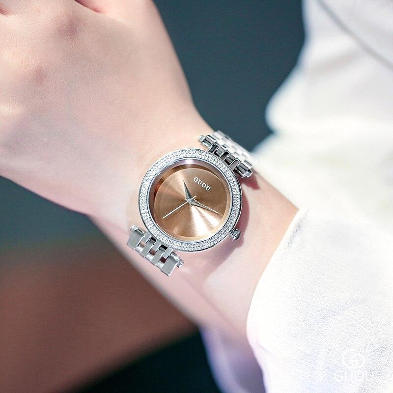 2019 Women's Watches Luxury Brand Lady Woman Quartz Watches Women Female Steel Ladies Wrist Watch For Women Relogio Feminino