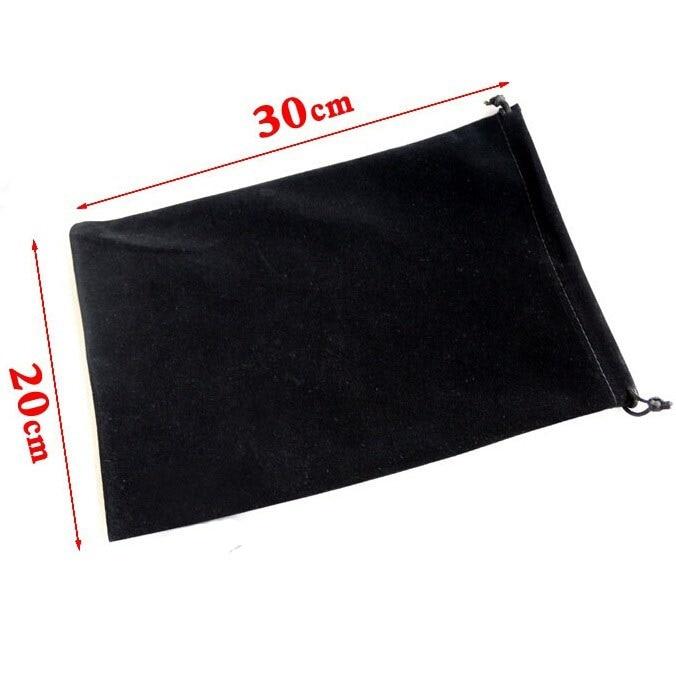 20pcs/lot Wholeslae 20*30 Cm Black/Grey/Rose/Blue/Red/Brown Big Drawstring Velvet Bags Pouches Wedding Gift Bag Book Bags Logo