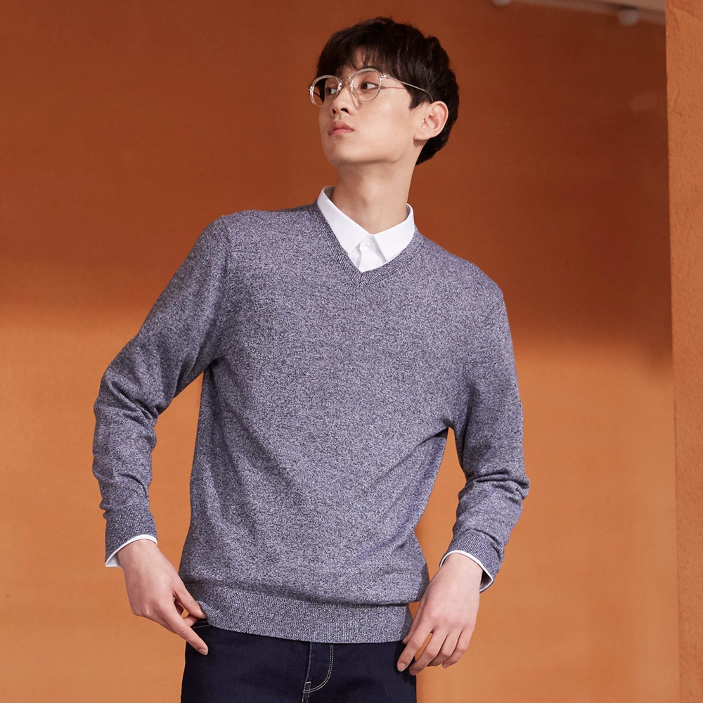 Metersbonwe New Brand Wool Sweater Men 2019 Autumn Fashion Long Sleeve Knitted Men Cotton Sweater High Quality Clothes 2