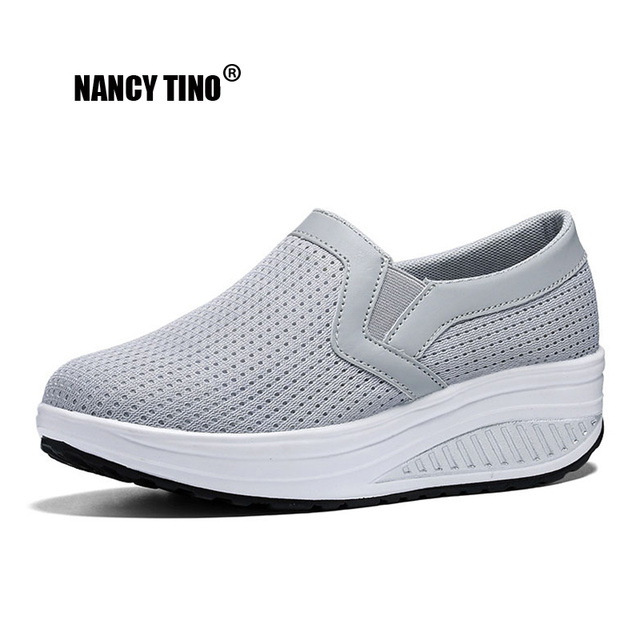 8dec6aa931bc NANCY TINO Woman Platform Sneakers Breathable Non-slip Athletic Shoes For  Women Comfortable Flats Dress Walking Sports Shoes