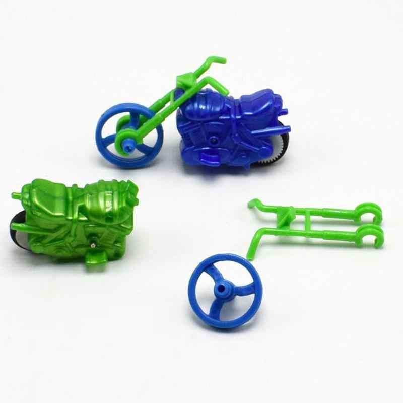 O bebê Caçoa DIY Mini Modelo de Moto Construção Crianças Puzzle Brinquedo de Montagem Simples Legal Motocicleta Crianças para Casa de Boneca ou um Presente