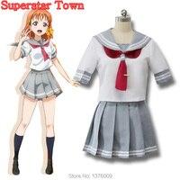 Aqours Cosplay Love Live Sunshine School Uniform Costume Love Live Cosplay Japanese Anime Sailor Clothes Top