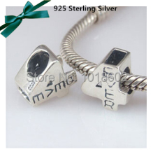 1 Pc/Lot 925 Sterling Silver Pendant Arabic Number 4 Charms Beads Accessories Fit For Pandora Necklace Bracelet VK0101
