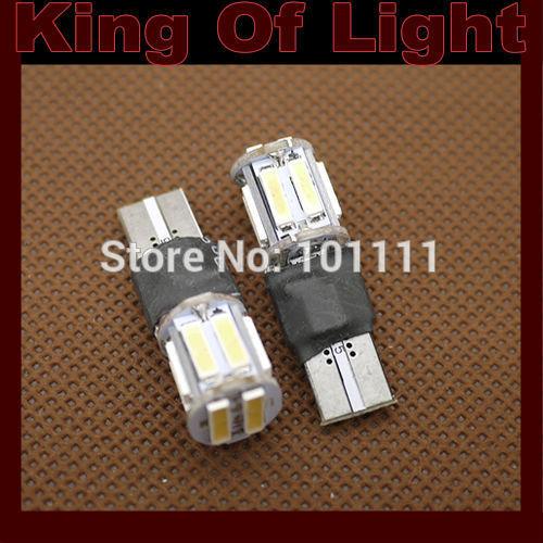 10x T10 194 W5W 10smd wedge10 led SMD 7014 7020 Strobe car led lamp white Free shipping