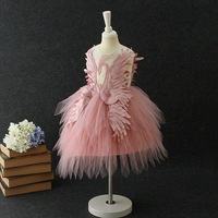 eae4ed63206e4d2 Swan Dress Events Party Wear Tutu Tulle Infant Christening Gowns Children S  Princess Dresses For Girls