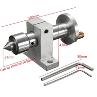 Mayitr Double Bearing Live Revolving Centre DIY Accessories With 2pcs Wrenches For Mini Lathe Machine