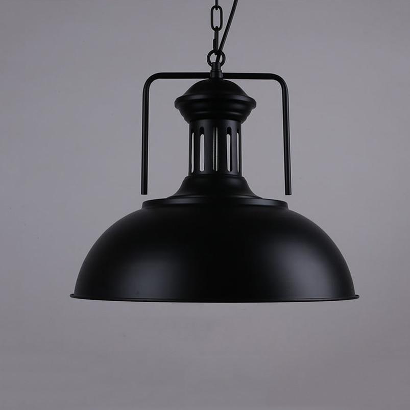 Nordisk enkelt hoved vedhæng lampe dørlys, vintage jern lampe - Indendørs belysning - Foto 4