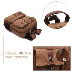 Image 3 - MARKROYAL yeni erkek keten sırt çantası omuzdan askili çanta öğrenciler eğlence çantası bilgisayar çantası okul Mochila gençler 15 inç Laptop sırt çantası