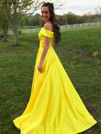 365cc79414 Simple Bridesmaid Dresses 2019 Off Shoulder Pockets A Line Long Formal  Wedding Guest Party Gowns Maid Of Honor Custom Made Cheap