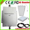 Trabalho 300m2 RF LTE 4 G 2600 mhz repetidor 65dB celular sinal de telefone celular amplificador de potência repetidor LPDA antena painel