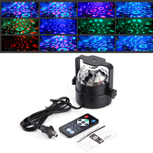 DIU# Mini 120 degree RGB LED Crystal Magic Ball Stage Effect Lighting Lamp Party Disco Club DJ Bar Light Show 100-240V US Plug