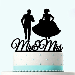 Image 5 - Acrílico bolo de casamento topper noiva noivo mr mrs acrílico bolo topper doce decoração de casamento mariage festa suprimentos adulto favores