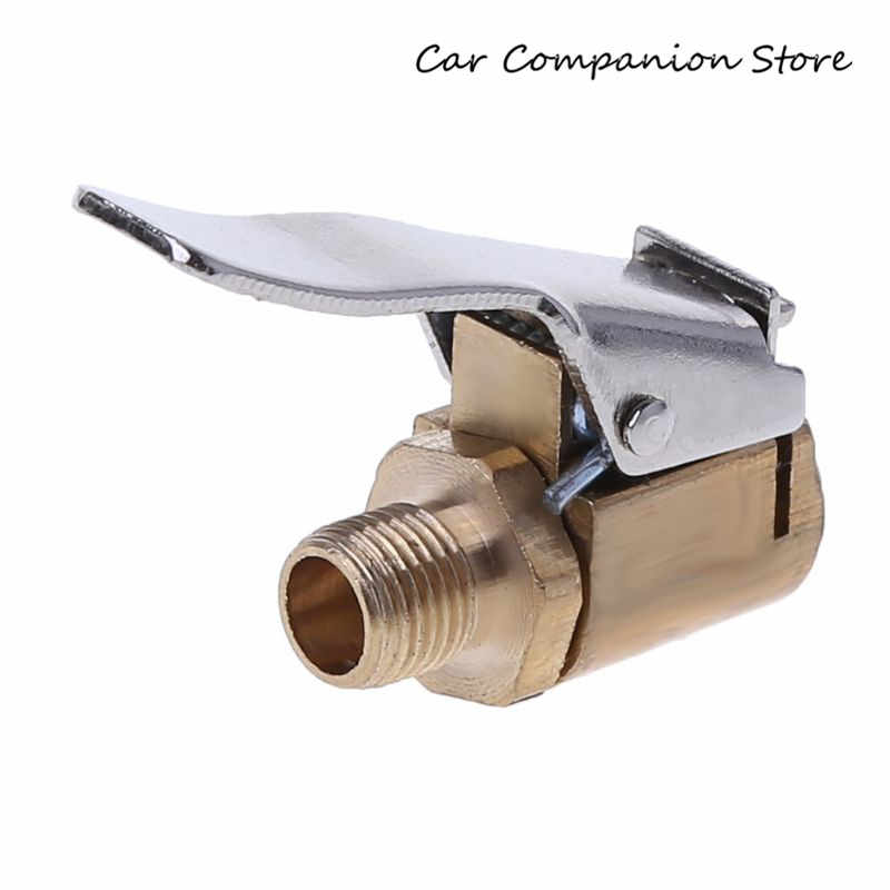 1 PC Auto Auto Messing 8mm Tyre Wheel Tire Air Chuck Inflator Pomp Valve Clip Clamp Connector Adapter Auto -styling