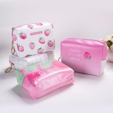 Cute Fruit Printing Makeup Bags With Multicolor Pattern Fashion Cosmetics Pouchs For Travel Female Pouch Women Cosmetic Bag