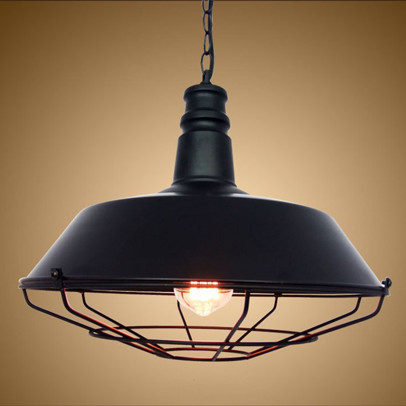 Loft Industrial Pendant Lights Vintage Edison Hanging Lamp E27 110 220V Pendant Lamps For Home Decor Restaurant Luminarias modern edison personality industrial lighting counter lamps cage vintage pendant lights pendant lamp edison bulbs ac 110 220v