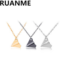 Sweater necklace popular fashion jewelry charm men hit the plane necklace pendant jewelry accessories
