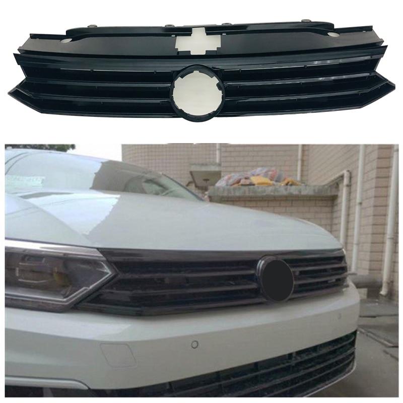For 2016 2017 2018 Volkswagen Passat B8 sedan/Alltrack/Variant FRONT GRILL bumper grille ABS black