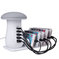 2018 New Quick Charge USB3 0 5 Port USB Charger Station With Desk Lamp For IPhone