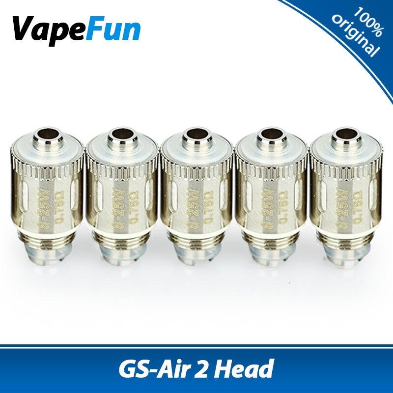 Original 5pcs/lot Eleaf GS Air 2 Atomizer Coil Head 0.75ohm Replacement Pure Cotton Heads for  Eleaf GS-Air 2 Tank Atomizer gs r405 2