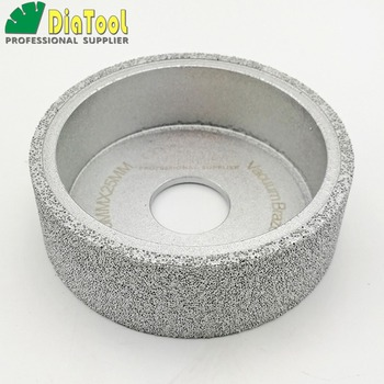diatool dia75mmx30mm hand held grinding wheel vacuum brazed diamond flat grinding wheel profile wheel for stone artificial stone DIATOOL Dia75mmX25mm Vacuum Brazed Diamond Flat Grinding Wheel Profile Wheel For Stone, Artificial Stone Ceremics Glass Concrete