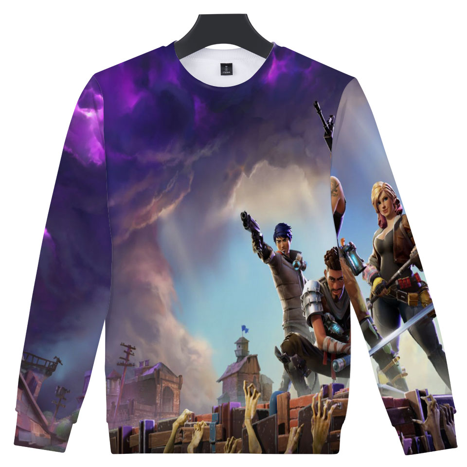 Fortnite Capless Hoodies 3D Funny Game Sweatshirt Mens Casual Pullovers Popular TGA FPS Games Sweatshirts Men Fans Clothes