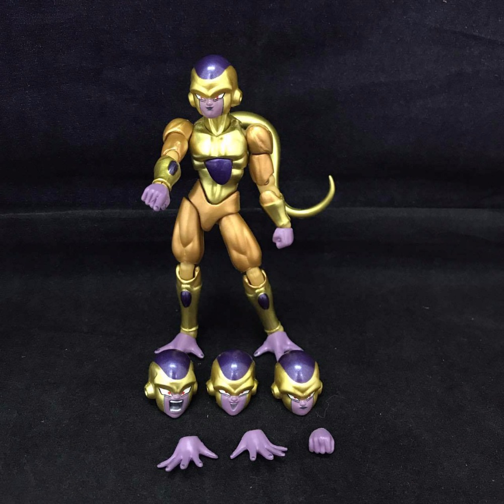 SHF S.H.Figuarts Anime Dragon Ball Z The Golden Frieza PVC Action Figure Collection Model Kids Toys Doll 12cm shf s h figuarts dragon ball z son gokou pvc action figure collectible model anime toys 16cm