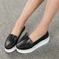 2016 New Women Flats Slip On Vintage Genuine Leather Women Loafers Spring Autumn Creepers Casual Platform Flats Nurse Shoes