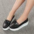 2016 nova couro mulheres Flats Vintage sapatos primavera outono trepadeiras plataforma Flats sapatos de enfermagem